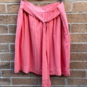 Cremieux Olive Skirt in Tropical Punch NWT 14